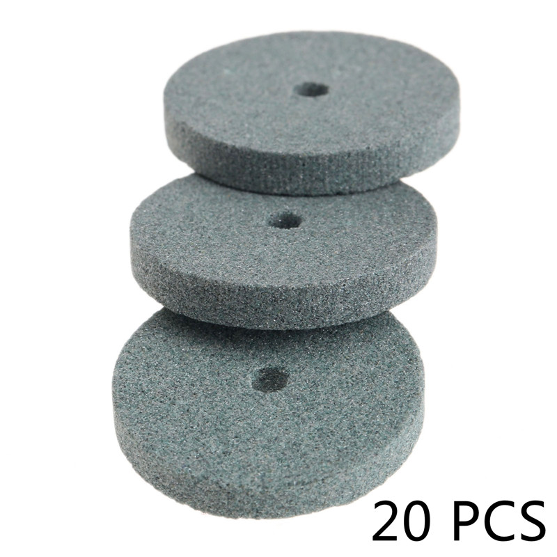 20pcs Dremel Accessory Mini Grinding Wheel Polishing Pad Dremel Mounted Stone Abrasive Tools For Bench Grinder Rotary Tool 20MM