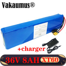 36V Lithium Battery with 15A BMS Electric bike battery 10S 3P 8Ah/8000mAh 18650 battery for 500W E bicycle bike motor vakaumus lg battery electric bicycle 20 inch electric sled 48v15ah battery lithium battery