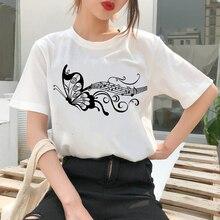 90s Graphic Rock Top Tees Female Music tree T Shirt Women Harajuku Vintage T-shirt Fashion Queen Tshirt