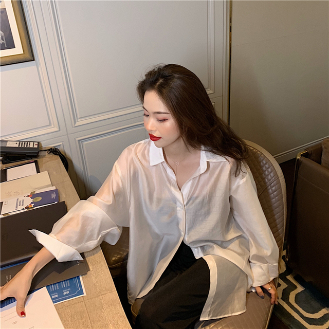 New  Blouse  Women Shirt   Long-sleeved thin section Tops   Ladies BL055 4