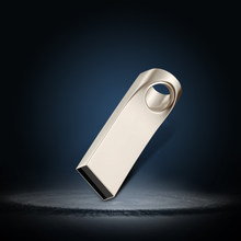 Unidad Flash USB de 64GB de Memoria de Metal Pendrive USB 64GB 32GB Memoria USB tarjeta de plata de 16GB 8GB(China)