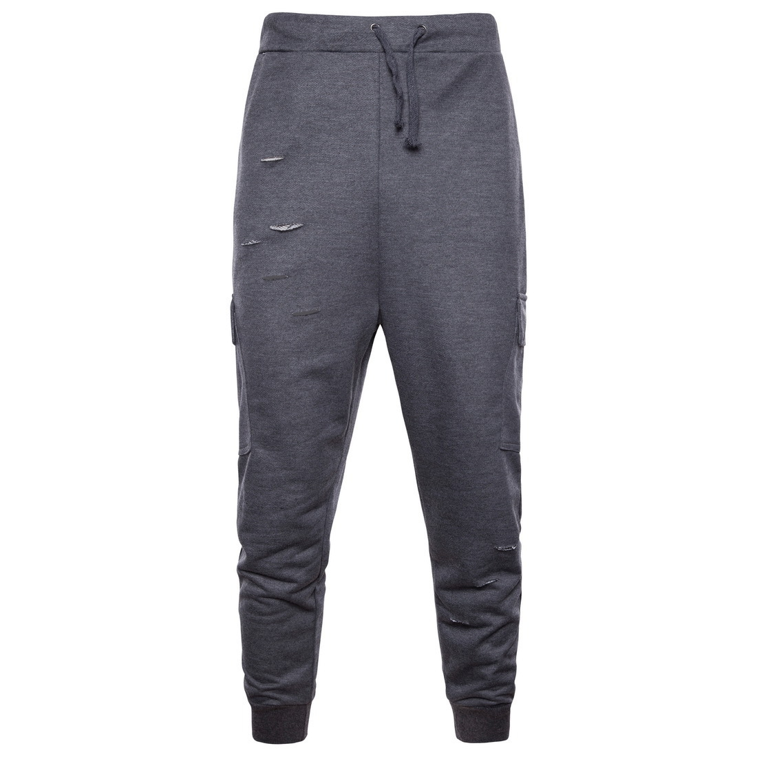 2018 New Style Trend Men With Holes Casual Harem Pants Sports Long Pants