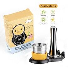 ICafilasStainless Stahl Wiederverwendbare Illy Kaffee Filter Manipulations Set Nachfüllbare Kapseln Tasse Pod Tamper Für ILLY X9 X8 X 7,1 Y5 y3 Y 1,1