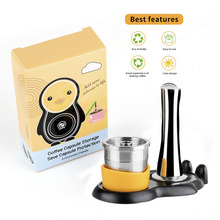 Stainless Steel Reusable Illy Coffee Filter Tamper Set Refillable Capsules Cup Pod Tamper For ILLY X9 X8 X7.1 Y5 Y3 Y1.1
