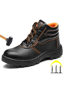 Winter Boots Toe-Shoes Steel Anti-Smashing New Ankle Piercing Men