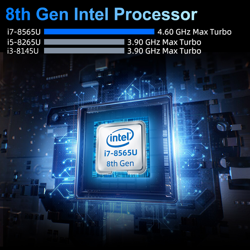 XCY Mini PC 8th Intel Core i7 8565U i5 Processor DDR4 RAM DP HDMI M.2 SSD Win 10 Linux 4K UHD HTPC Desktop Nettop Computer Nuc-2