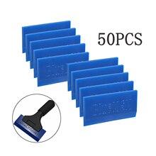EHDIS 50PCS Bluemax Rubber Spare Blade For Handle Squeegee Water Wiper Scraper Vinyl Film Car Wrap Snow Remover Sticker Tool