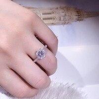 TSHOU144 Luxury Female White Bridal Wedding Ring Fashion Sterling 925 silver Jewelry Promise CZ Stone Engagement Rings For Women