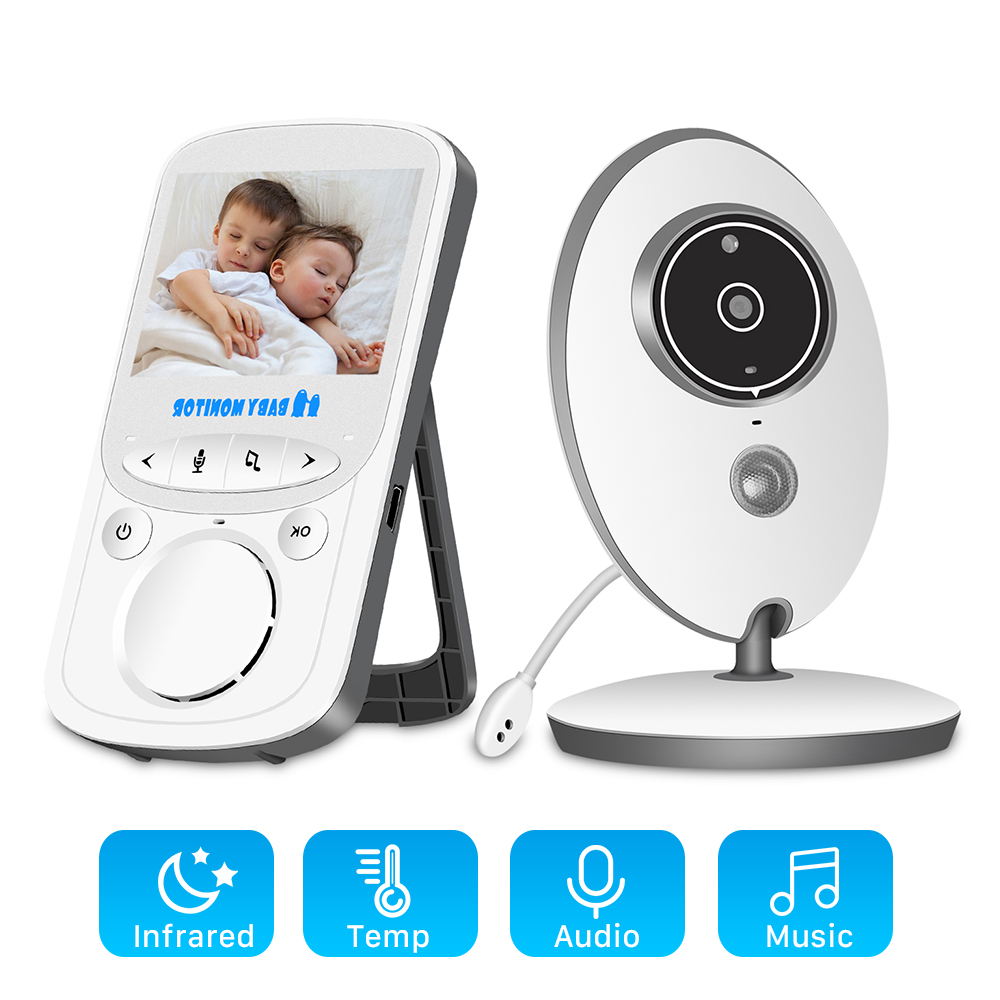 Baby-Monitor Lcd-Video Security-Camera VB605 Audio-Bebe Surveillance Night-Vision Wireless