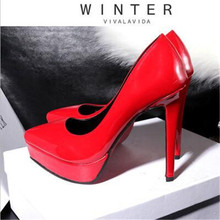 2019 Plus Size 34-39 HOT Women Shoes Pointed Toe Pumps Patent Leather Dress High Heels Boat Shoes Wedding Shoes Zapatos Mujer