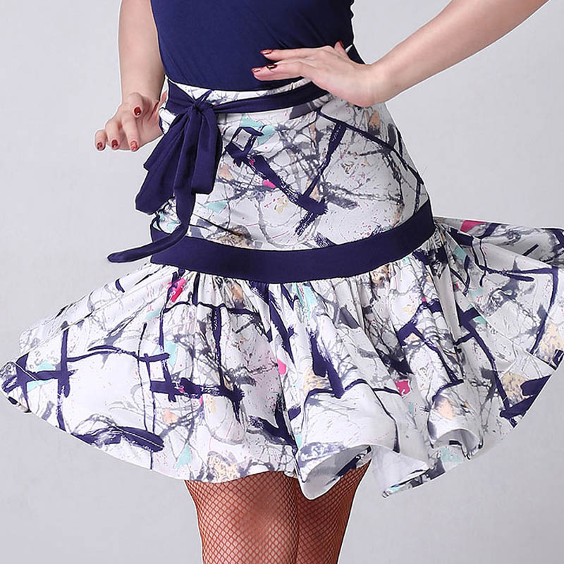Latin Dance Skirt Female Professional Latin Dance Competition Skirt Tango Dance Practice Clothes Women Samba Dancewear DQL2239