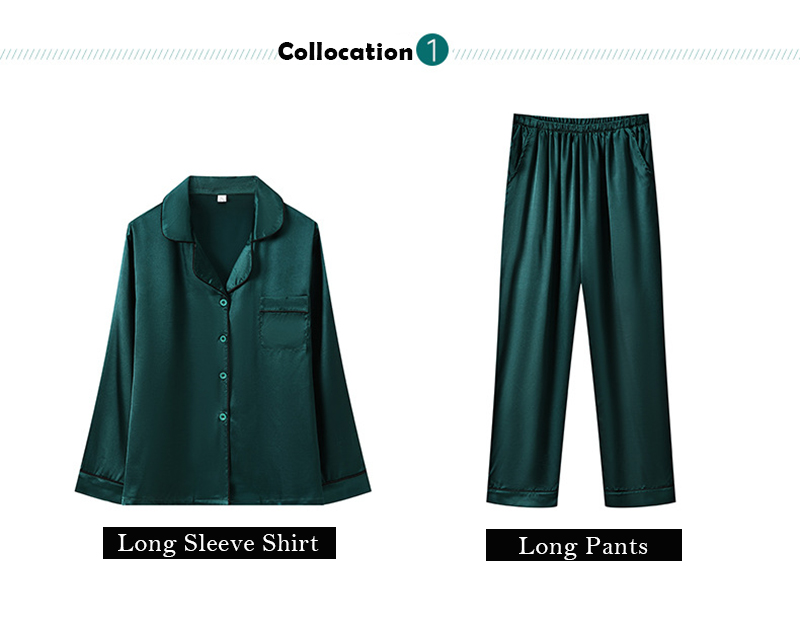 Haa1bb3120eab4c139187c8e787be02e7K JULY'S SONG 7 Piece Women Pajamas Set Stain Soft Pyjama Spring Summer Female Nightwear Solid Faux Silk Shorts Homewear 2020
