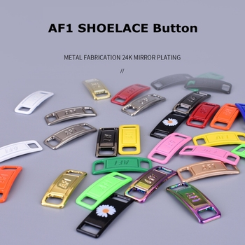 2 pièces/paire lacet boucle métal lacets AF1 lacets boucle accessoires métal dentelle serrure bricolage Sneaker Kits métal dentelle boucle