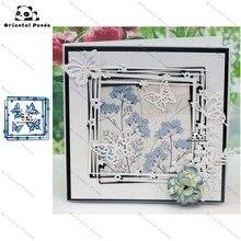 New Dies Frame + 4 butterflies Metal Cutting diy photo album  cutting dies Scrapbooking Stencil Die Cuts Card Making