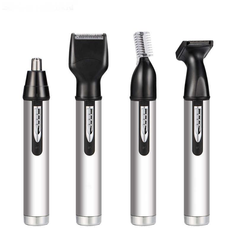 4 で 1 鼻毛トリマー充電式かみそり眉毛鼻耳多機能脱毛器電動ミニトリマー男性の修理