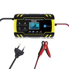 Car Battery Charger 12/24V 8/4A Touch Screen Pulse Repair Auto Accessories