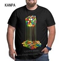 Magliette da uomo grafiche dal Design unico t-shirt in cotone oversize taglie forti per uomo grande nero estate maniche corte abiti top