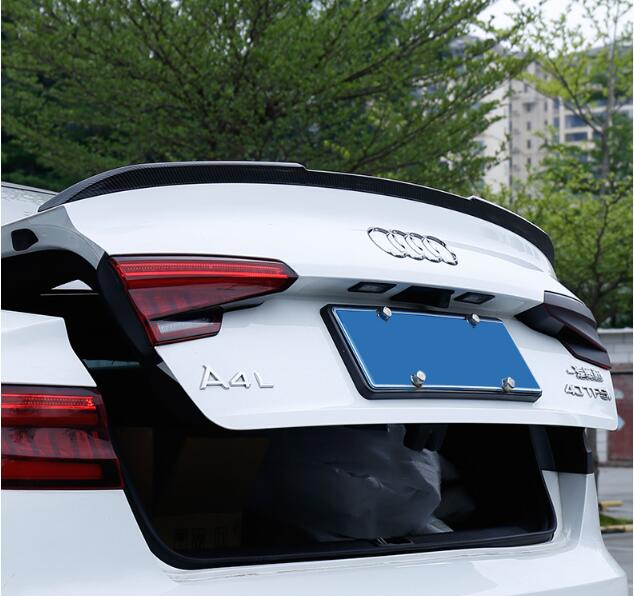 New A4 Car Carbon Fiber Rear Wing Trunk Lip Spoilers For Audi B9 A4 S4 RS4 2017 2018 2019|Spoilers & Wings| |  - title=