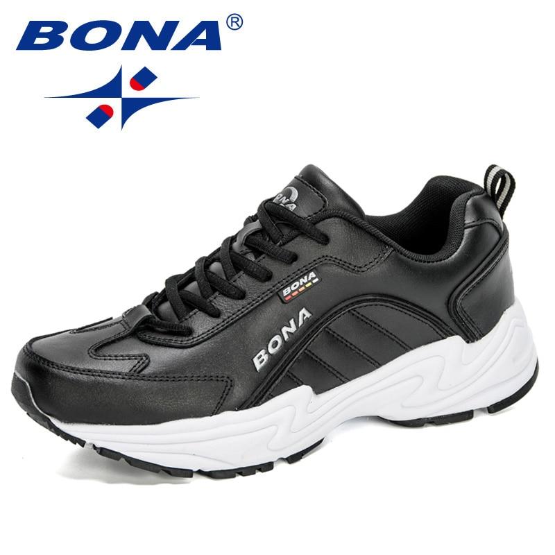 BONA 2020 New Designers Sport Walking Shoes Men Running Sneakers Man Trainers Outdoor Athletic Shoes Male Jogging Shoe Footwears