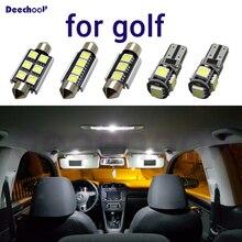 Canbus LED prawo jazdy lampa płaska + wnętrze kopuła mapa zestaw oświetleniowy żarówka dla volkswagen dla VW Golf 4 5 6 7 MK4 MK5 MK6 MK7 1998 2018