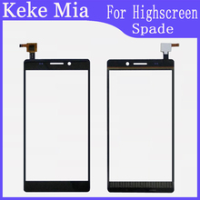 цена на 5.5 inch Touch Screen For Highscreen Spade Touch Glass Digitizer Panel Front Lens Sensor Capacitive Free Adhesive+Wipes