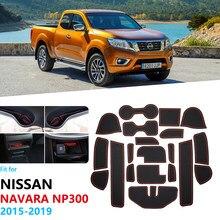 Противоскользящий резиновый слот для ворот, коврик для чашки для Nissan Navara NP300 D23 2015 2016 2017 2018 2019, аксессуары, автомобильные наклейки NP 300