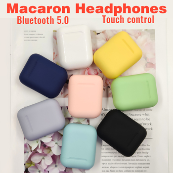 Macaron i12 tws Wireless Earphones Bluetooth 5.0 Headphones Headset Original Touch Pop-up True Stereo Earbuds Earpiece for phone 1