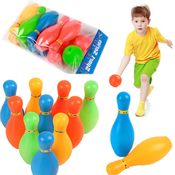 1 conjunto de 10 pinos skittle 2 bolas boliche jogo festa ao ar livre indoor brinquedo criança cor