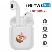 i9s Tws Bluetooth Earphones Wireless Earbuds Sport Handsfree Earphone Cordless Headset Cute Pink Bow Owl Girl(China)