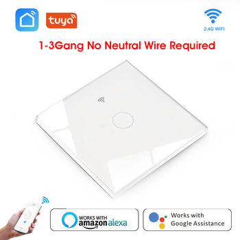 Wifi Smart Light Switch Glass Screen Touch Panel Voice Control Wireless Wall Switches Remote with Alexa Google Home 1/2/3 Gang cnskou smart wifi wireless touch screen switch 1 2 3 gang 1 way home wifi touch remote smart switch 220v 230v for google home