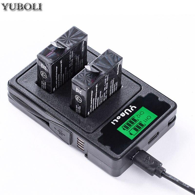 USB Hero 7 + 4x Akku AABAT-001 für GoPro Hero7 Dual Ladegerät