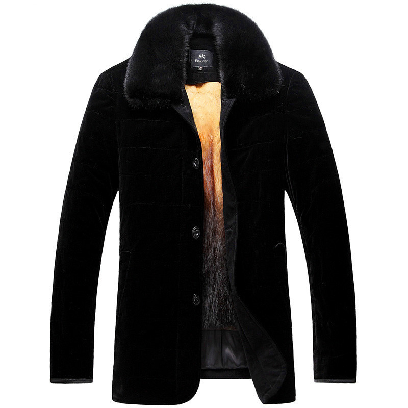 2020 Real Fur Coat Men Natural Mink Fur Coat Winter Jacket Men Clothes Mens Real Shearling Warm Outwear Veste Homme 2607 YY668