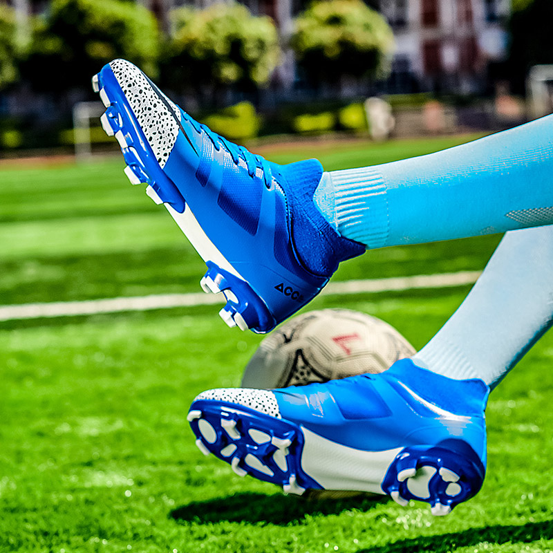High Ankle Soccer Cleats Boy Youth New Cool Football Sock Boots AG Soccer Shoes Green Mens Sneakers Soccer Cleats Brands