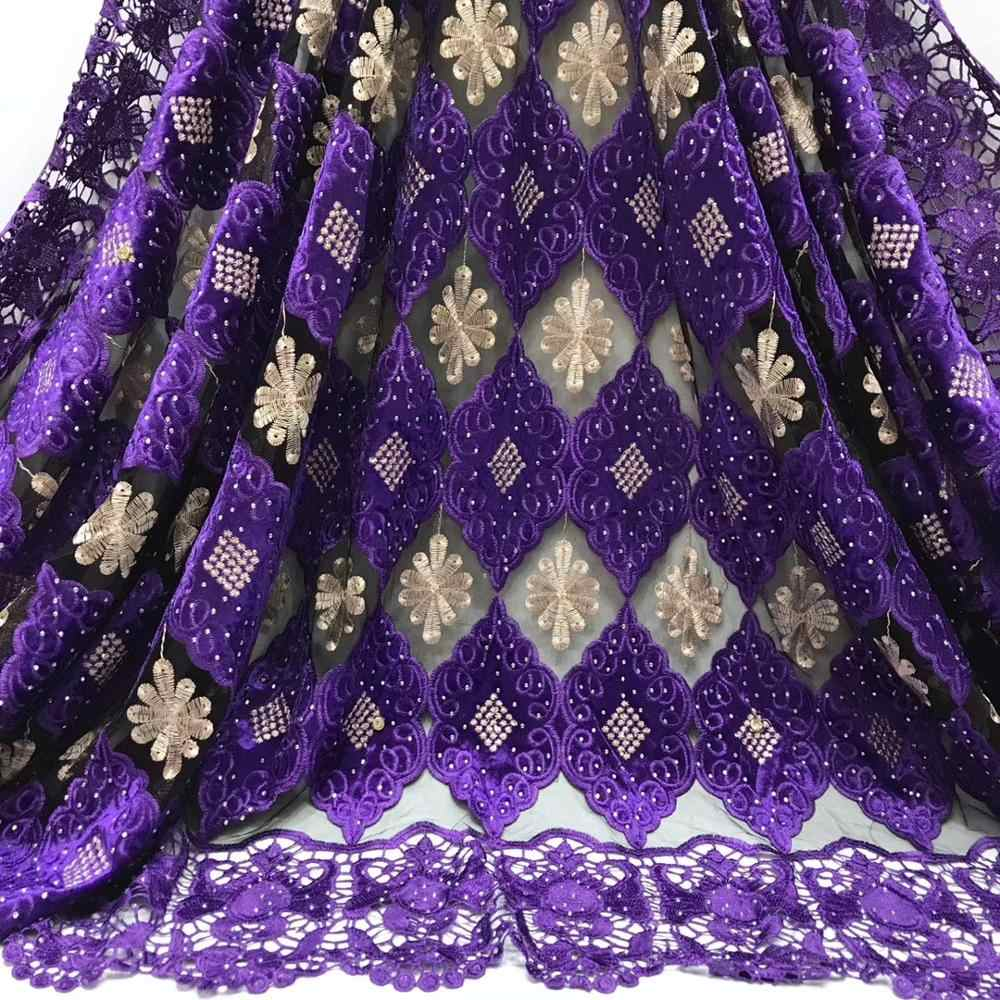 Cassiel Hot Sale French Lace Fabric Embroidery African Net Lace Fabric With Stones High Quality Cheap Nigerian Women Dress