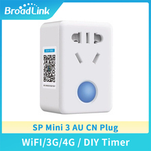 цена на Broadlink SP Mini 3 Smart Home WiFi Socket AU CN Plug 2-outlets APP Remote Control Timer Smart Sockets 10A For Ios Android