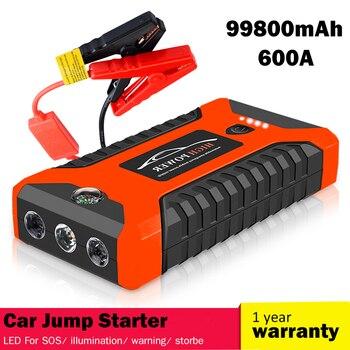Jump Starte 99800mAh car jump starter Battery Power Bank 12V 600A Car Starter Auto Buster Car Device Emergency Booster Battery