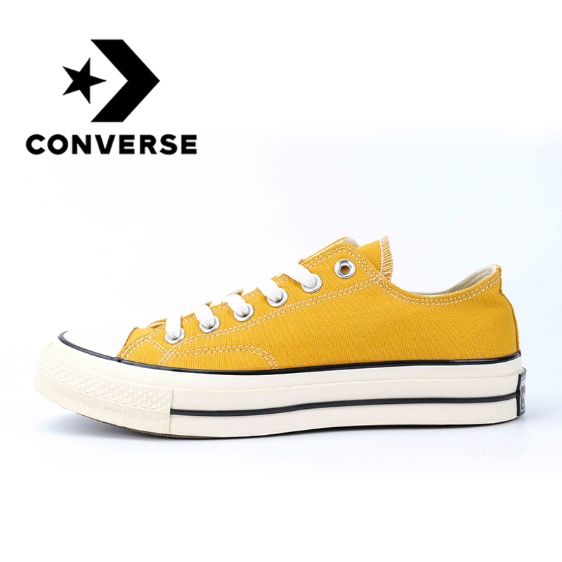 Original Authentic Converse ALL STAR Classic Unisex Skateboarding Shoes Low-Top Lace-up Durable Canvas Footwear