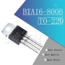 10pcs BTA16-800B PARA-220 BTA16-800 TO220 BTA16 800V 16A 16-800B novo e original