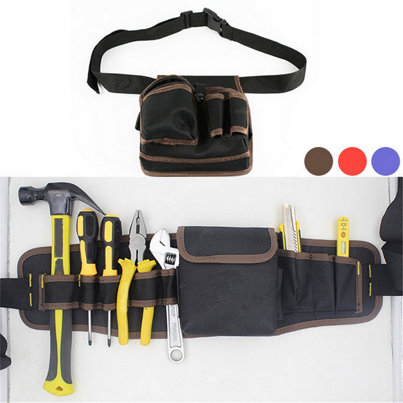 Mechanics Canvas Tool Bag High Quality Hardware Utility Pocket Pouch Utility Bag With Belt