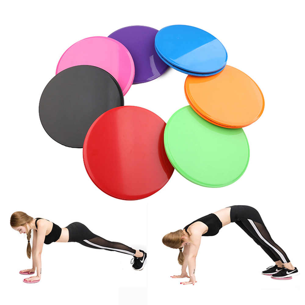 2x Sport Workout Gliding Slide Discs Fitness Yoga Gliders Slider Core Training