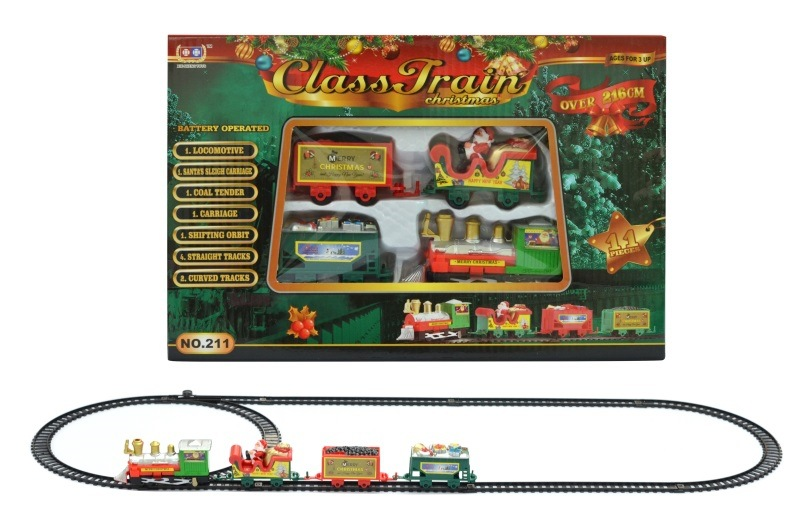 CHILDREN'S Train Camera Track Toy Electric Rail Train Small Train Christmas Gift Classical Rail Train