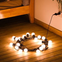 8M 13M LED String Light Globe Bulb 220V plug Waterproof Outdoor Lamp for Wedding Christmas Valentine Holiday Garland Decoration