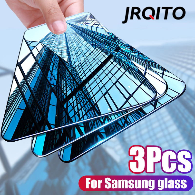 3Pcs Protective Glass For Samsung Galaxy A50 A30 A20 Screen Protector Film For Samsung M10 M20 M30 A40 A70 A10 Tempered Glass-in Phone Screen Protectors from Cellphones & Telecommunications
