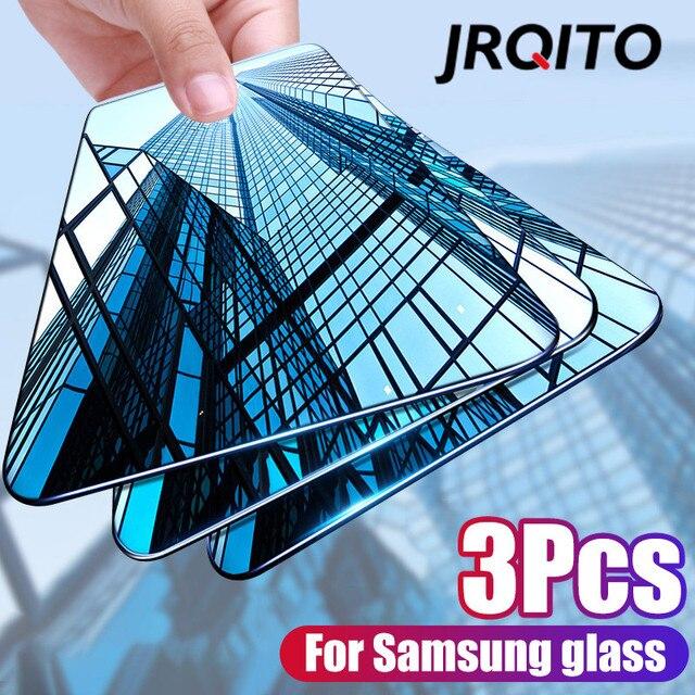 삼성 전자 갤럭시 a50 a40 a30 a20 a10 화면 보호기에 대한 새로운 곡선 강화 유리 삼성 m10 m20 m30 a20e a60 a70