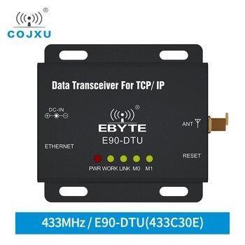 433MHz Ethernet Modbus 1W IoT TCXO COJXU E90-DTU-433C30E Long Range PLC Data Transmission Wireless Transceiver  Ethernet Modem long range 433mhz switch value acquisition tcxo cojxu e830 dtu 2r2 433l wireless transceiver