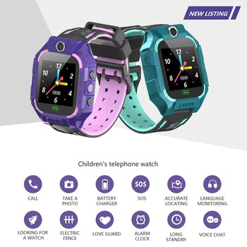 Kids LBS positioning waterproof watch SOS help SIM card two-way call boy girl smart watch support Android IOS Children's watch