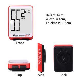 Image 4 - 西バイクコンピュータ多機能 led デジタルレート mtb 自転車スピードメーターワイヤレスサイクリング走行距離コンピュータストップウォッチ