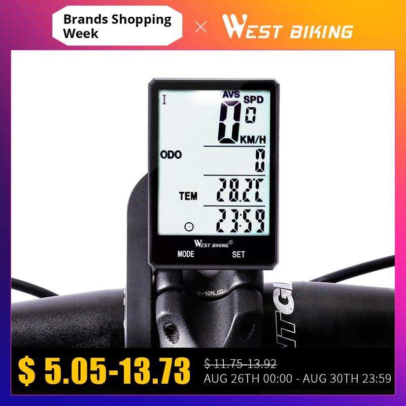 Bicycle Computer Odometer Bike West Biking Temperature-Stopwatch Rainproof Measurable