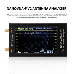 4.3 Inch IPS LCD Display NanoVNA-F V2 3G Vector Network Analyzer S-A-A-2 Antenna Analyzer Short Wave HF VHF UHF NanoVNA USB Tool