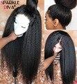 Курчавые прямые парики на сетке спереди 13x4, парики из человеческих волос спереди на сетке для черных женщин 150%, парик на сетке спереди, парик...